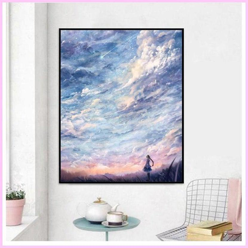 Once Upon a Shooting Star-Diamond Painting Kit-45x60cm (18x24 in)-Square-Heartful Diamonds
