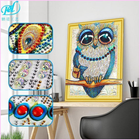 Image of Owl Collection 4 Diamond Painting Kit with Jewel Encrusted Design-Special Diamond Painting Kit-40x50cm (16x20 in)-Heartful Diamonds