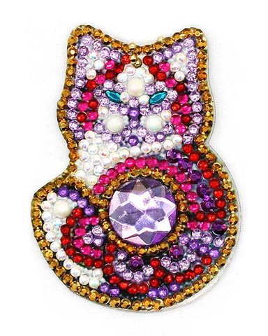 Pampered Kittens - Diamond Key Chains-Key chain-Heartful Diamonds