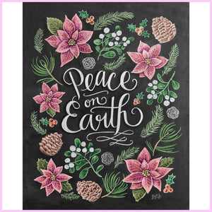 Peace on Earth-Diamond Painting Kit-30x40cm (12x16 in)-Square-Heartful Diamonds