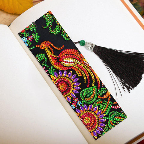 Phoenix Firebird - Diamond Painting Bookmark-Bookmark-Heartful Diamonds