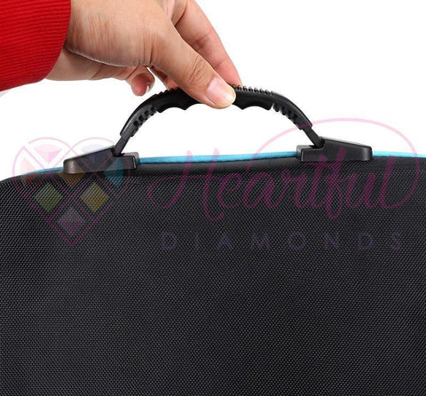 Premium Fabric Carrying Case with 60 Storage Bottles for Diamond Painting-Accessories-Heartful Diamonds
