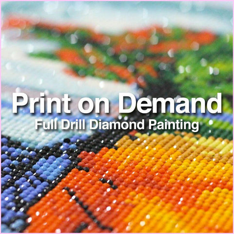 Image of Print-On-Demand Full Drill Diamond Painting-Diamond Painting Kit-Heartful Diamonds