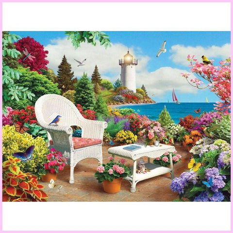 Image of Relaxing Getaway-Diamond Painting Kit-30x40cm (12x16 in)-Square-Heartful Diamonds