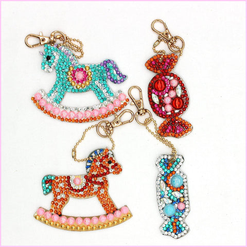 Image of Rocking Horses - Diamond Key Chains-Key chain-Heartful Diamonds