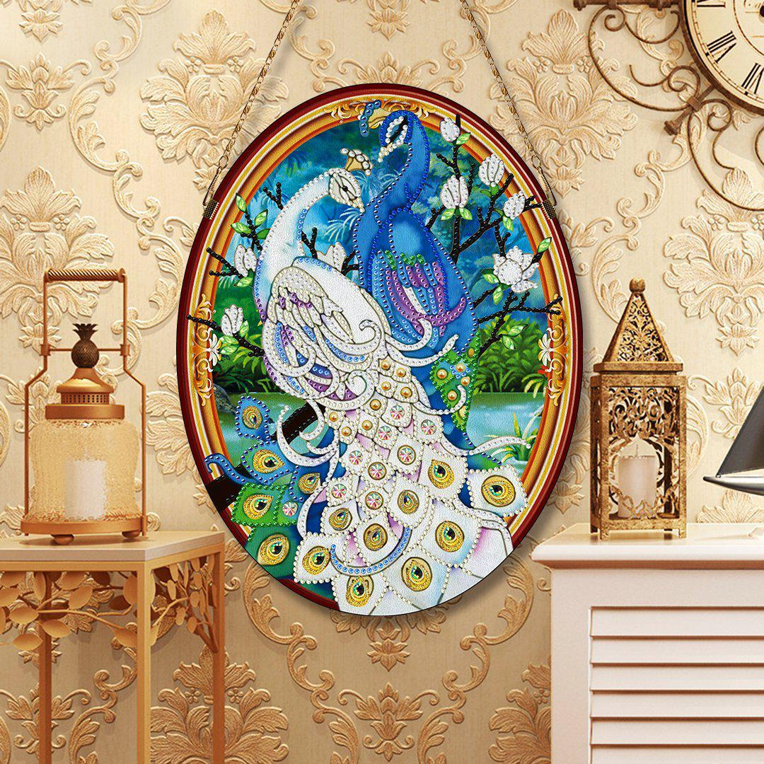 Royal Peacocks - Large Hanging Decoration-Large Hanging Decoration-Heartful Diamonds