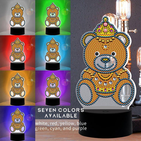 Royal Prince Bear 3D Night Lamp-3D Night Lamp-Heartful Diamonds