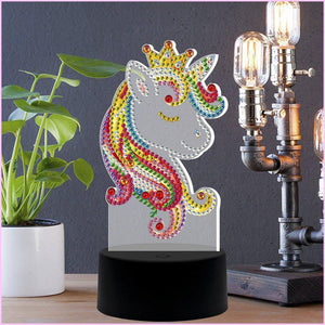 Royal Princess Unicorn 3D Night Lamp-3D Night Lamp-Heartful Diamonds