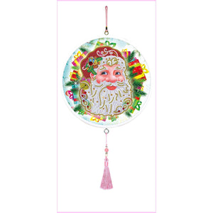 Smiling Santa Claus - Large Hanging Decoration-Large Hanging Decoration-Heartful Diamonds