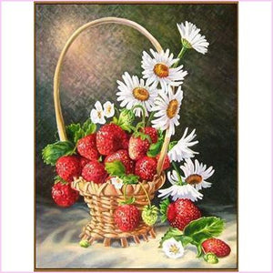 Strawberries and Daisies - Starter Edition-Starter Kit-Strawberries and Daisies-20x30cm (8x12 in)-Heartful Diamonds
