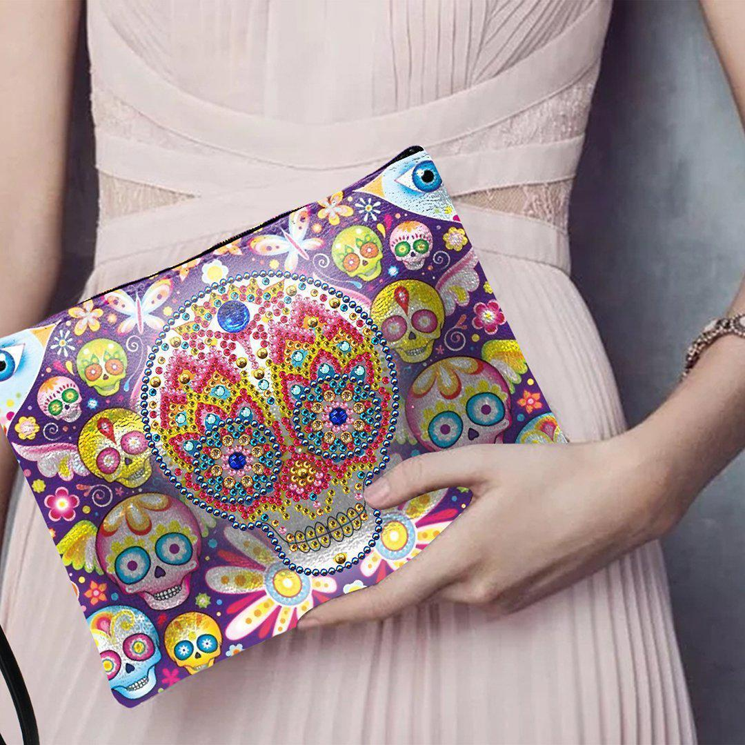 Sugar Skull Diamond Painting Purse-Purse-Heartful Diamonds