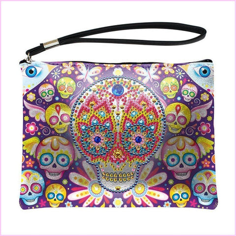 Image of Sugar Skull Diamond Painting Purse-Purse-Heartful Diamonds