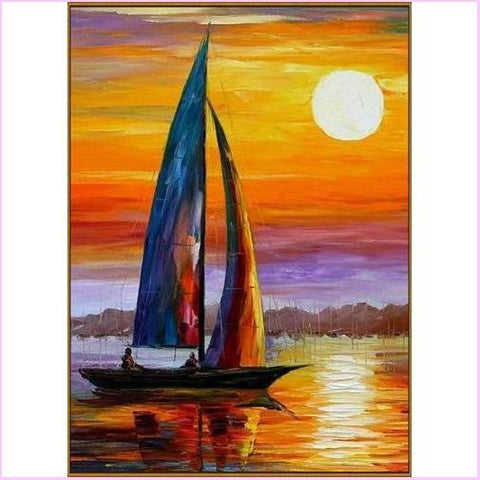 Image of Sunset Sailing - Starter Edition-Starter Kit-Sunset Sailing-20x30cm (8x12 in)-Heartful Diamonds