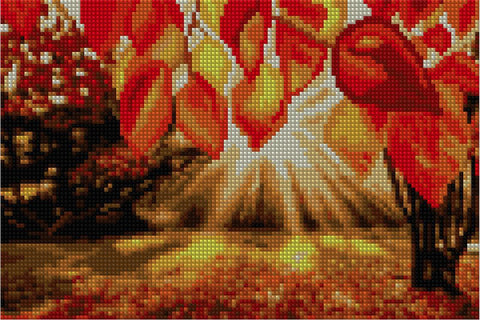 Image of Sunshine Through Autumn Leaves - Starter Edition-Starter Kit-Autumn-20x30cm (8x12 in)-Heartful Diamonds
