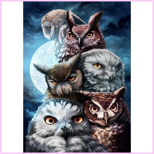 The Midnight Watchers-Diamond Painting Kit-30x40cm (12x16 in)-Square-Heartful Diamonds