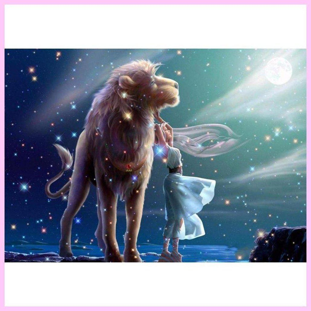 The Zodiac - 12 Constellations Collection - Leo-Diamond Painting Kit-30x40cm (12x16 in)-Square-Heartful Diamonds