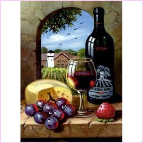 Image of Wine and Cheese, Anyone? - Starter Edition-Starter Kit-Wine and Cheese-20x30cm (8x12 in)-Heartful Diamonds