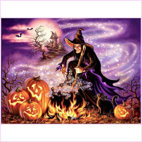 Image of Witching Hour-Diamond Painting Kit-30x40cm (12x16 in)-Square-Heartful Diamonds