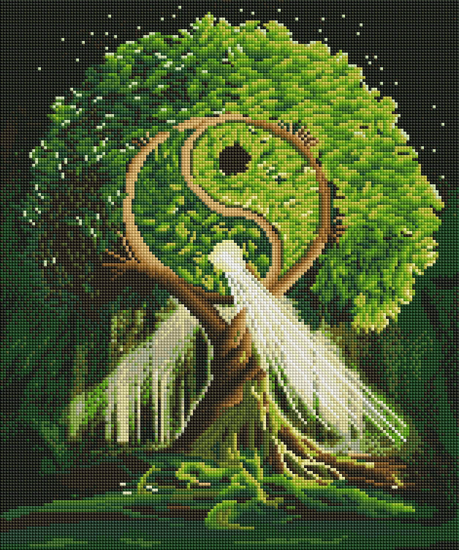 yin yang tree diamond painting rendering preview by create love share