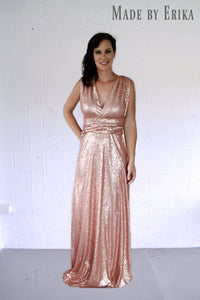 Maxi Full Sequin Convertible Dress - Made by Erika Convertible Collection