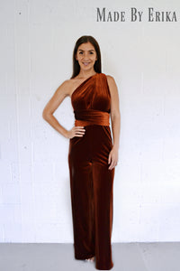 Velvet Convertible Jumpsuit - Made by Erika Convertible Collection
