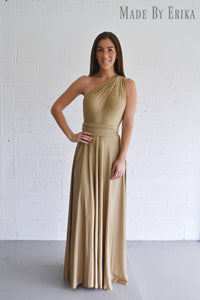 Maxi Front Split Convertible Dress - Made by Erika Convertible Collection