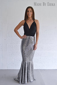 Sequin Fit and Flare Convertible Dress - Made by Erika Convertible Collection