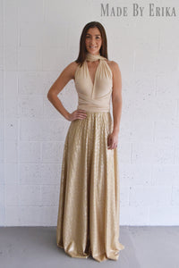 Maxi Sequin Skirt Convertible Dress - Made by Erika Convertible Collection