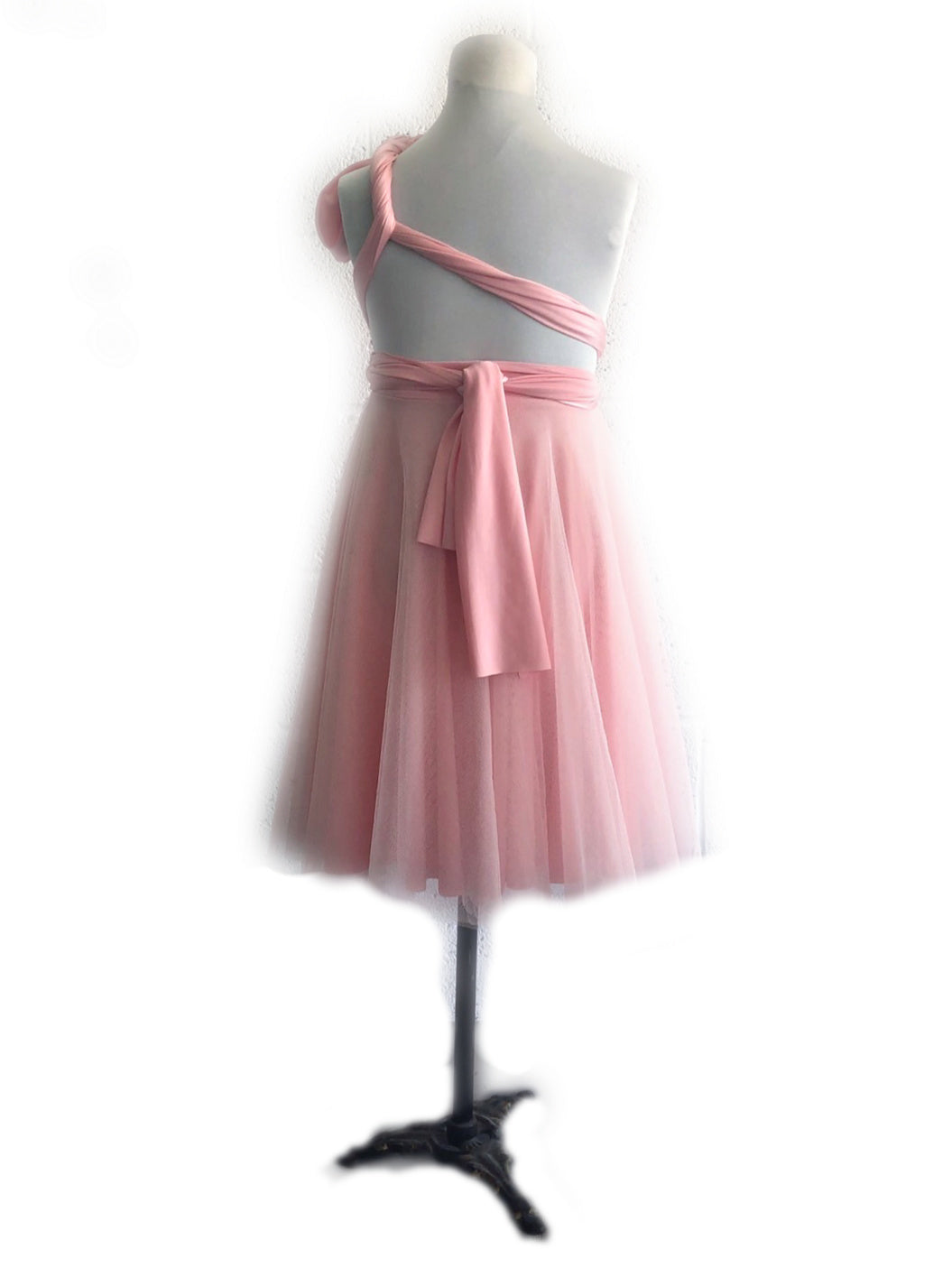 Junior Cocktail Length Tulle Convertible Dress