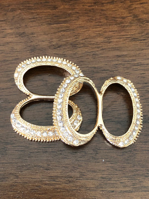 Gold Figure 8 Buckle - Pair - Made by Erika Convertible Collection