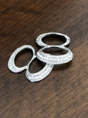 Silver Figure 8 Buckle - Pair - Made by Erika Convertible Collection