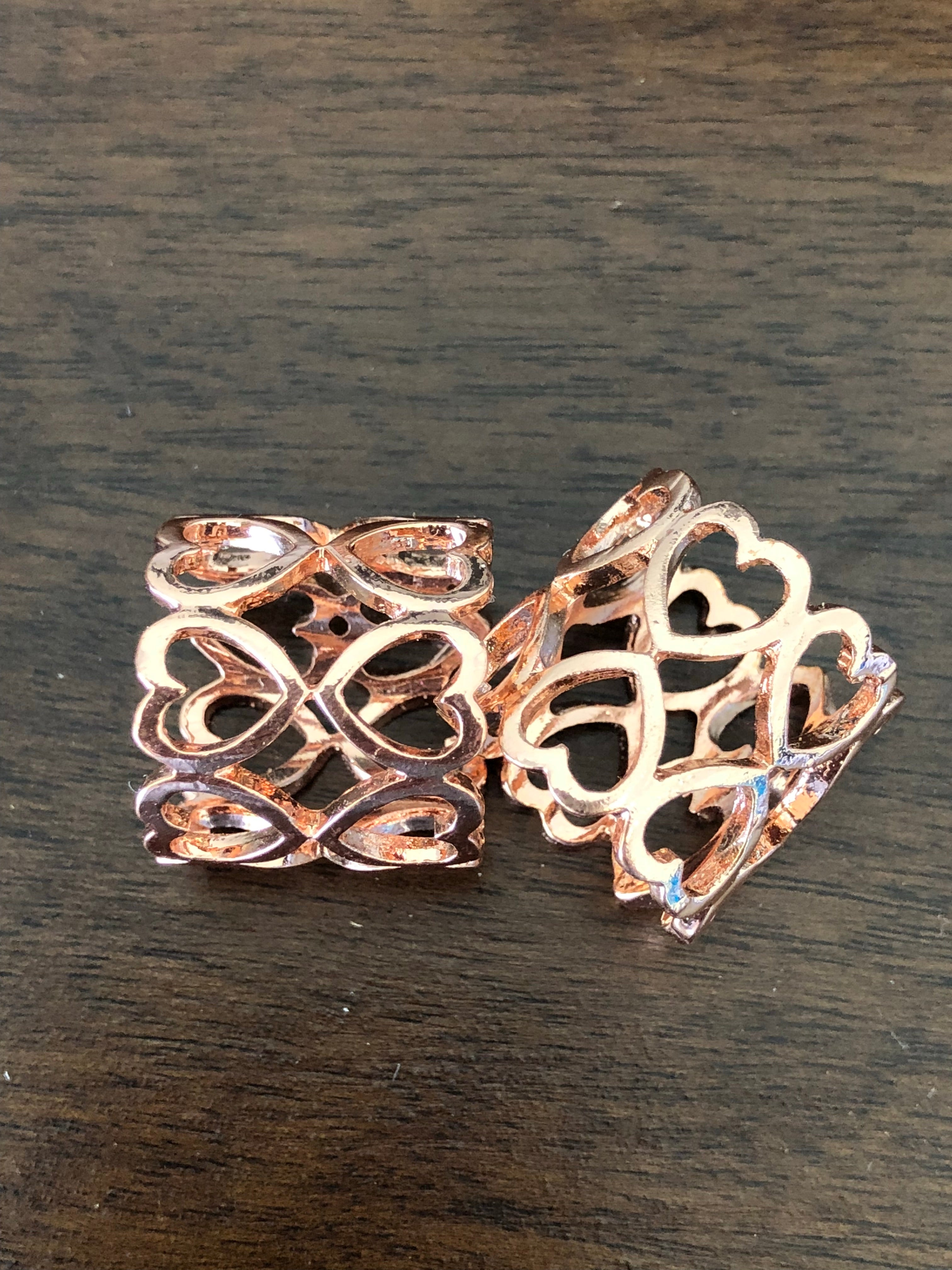 Heart Rose Gold Tube Buckle - Made by Erika Convertible Collection