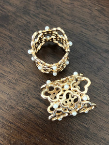 Pearl Gold Tube Buckle - Made by Erika Convertible Collection