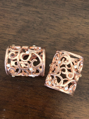 Filigree Rose Gold Tube Buckle - Made by Erika Convertible Collection