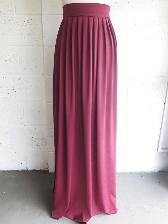 Pleated Maxi Skirt - Made by Erika Convertible Collection