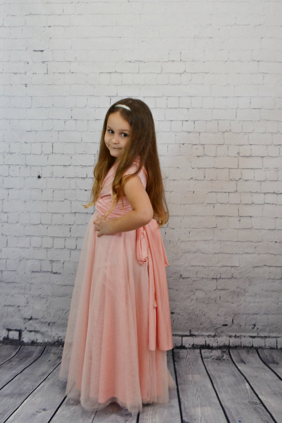 Junior Full Length Tulle Convertible Dress - Made by Erika Convertible Collection