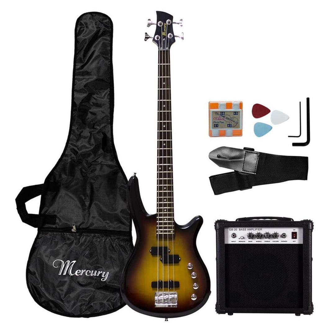 MERCURY electric bass 20W amplifier set + accessories 14SETEB001