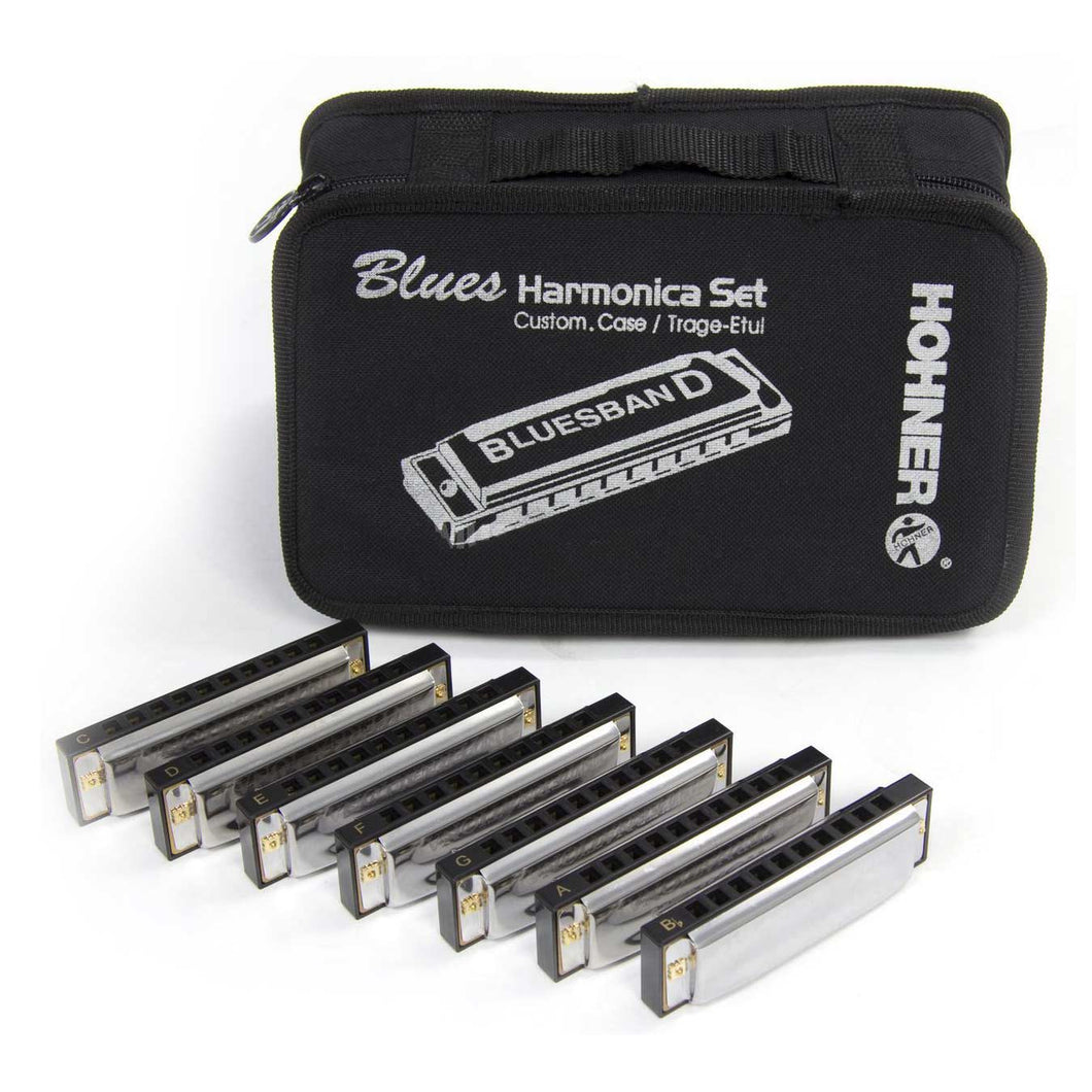 HOHNER Blues Band harmonica set 7 units with case M91105