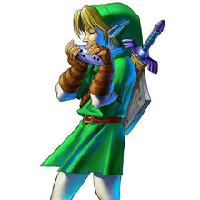 Load image into Gallery viewer, Ocarina of Time Zelda ceramic with pedestal and bag