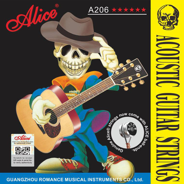 Ropes ALICE acoustic guitar metal A206 11-52