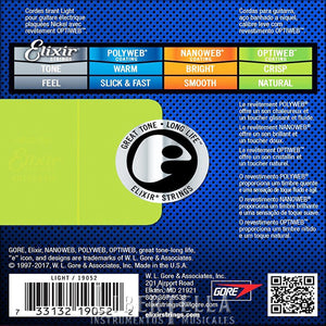 Optiweb 19052 ELIXIR Electric Guitar Strings 10 - 46