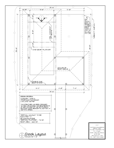 BL12' Wide Activity Dock Plan