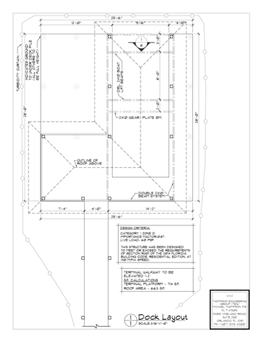 BR 12' Wide Activity Dock Plan