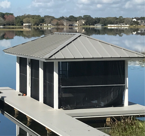 Shorescreen Boat Dock Cover