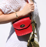 Tiggy Amelia - Mini Cross Body Red