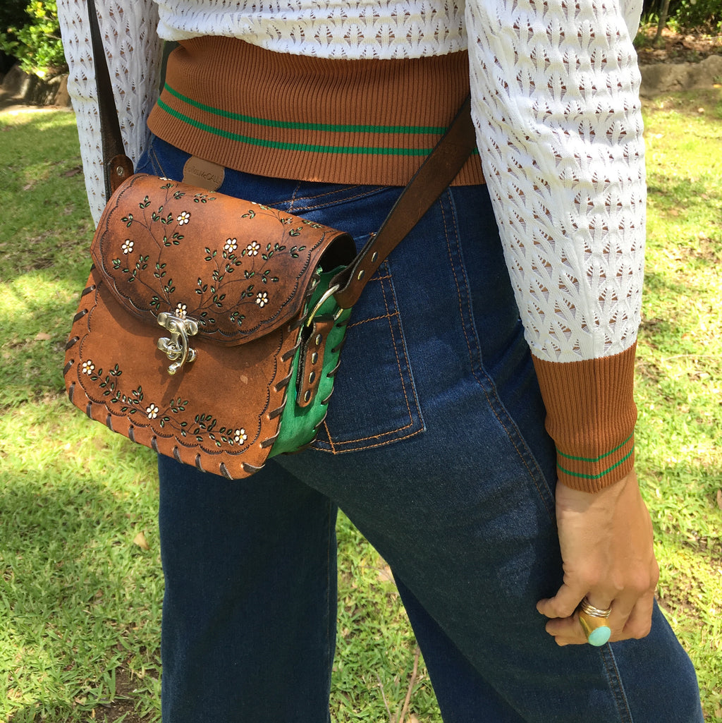 Tiggy English Garden - Mini Cross Body Vintage Brown