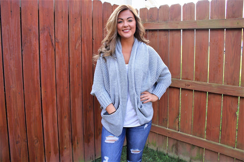 Gray Dreaming Cardigan