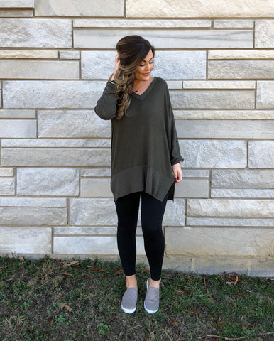 Go For Cozy Olive Tunic