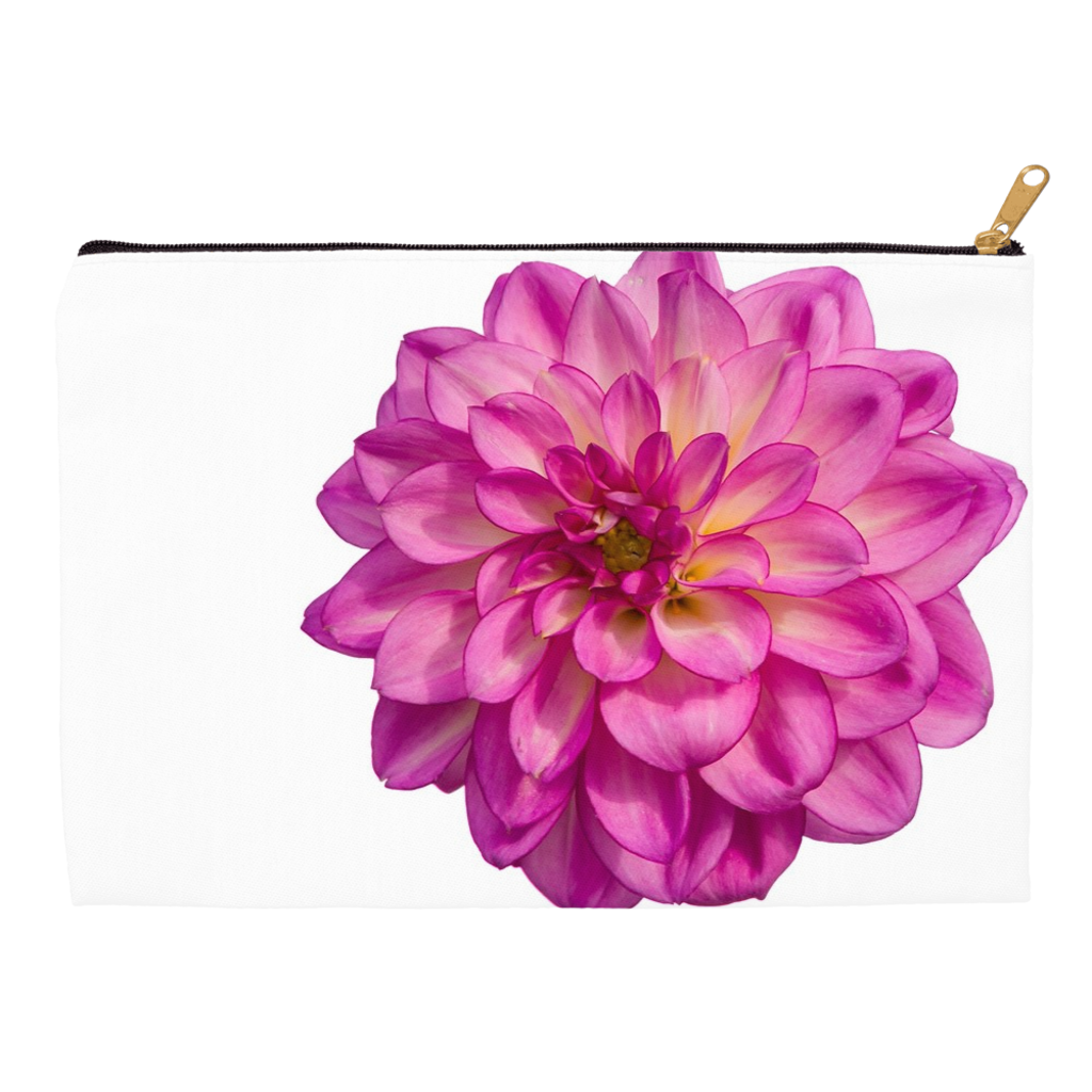 Giant Pink Dahlia Accessory Pouches Wonder Mining