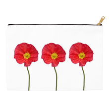 Three Red Poppies | Accessory Pouches